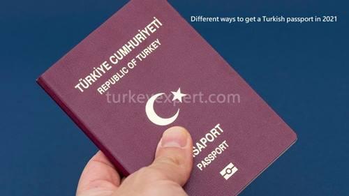 Different ways to get a Turkish passport in 2021
