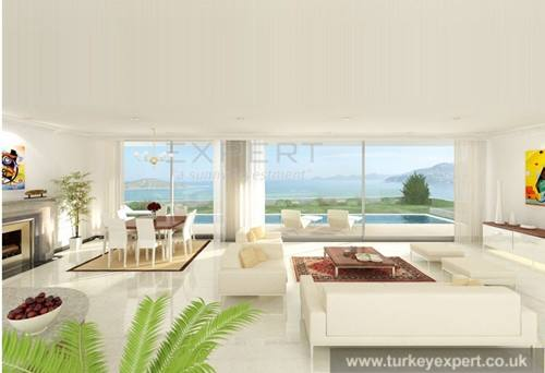 Independent high tech villa in Bodrum Gumusluk with amazing sea views, near the beach
