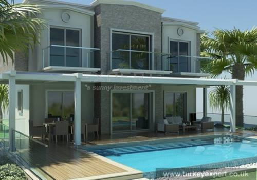 Villa with private swimming pool 50 m from beach in Bodrum Gumusluk , private garage