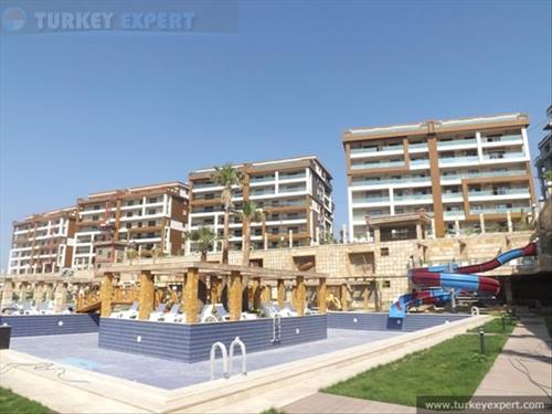 High-quality new development of spacious sea view and park view apartments in Kusadasi town centre