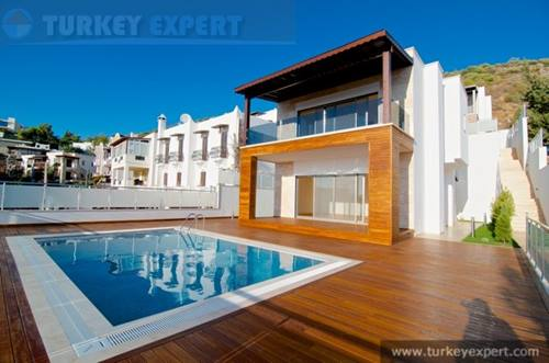 Modern seaview villa with private pool and garage in Bodrum centre