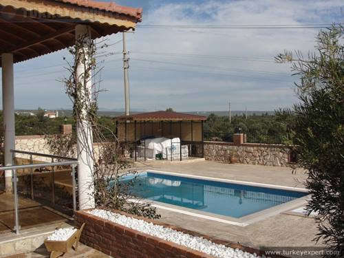 New detached villa in Didim Yesiltepe, private pool, pet-friendly