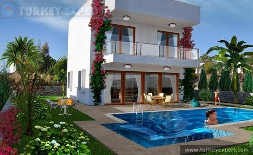 New seaview villa with private pool and garage in Bodrum
