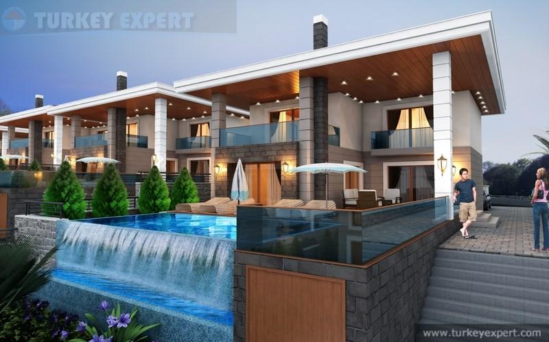 Luxe villa 39 s met priv zwembad tuin en parking in de buurt van winkelcentra in kusadasi - Zwembad terras outs ...
