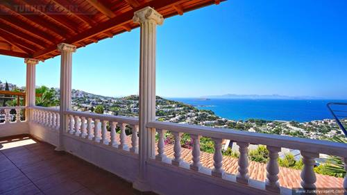 Beautiful private sea view villa in Bodrum Gumusluk