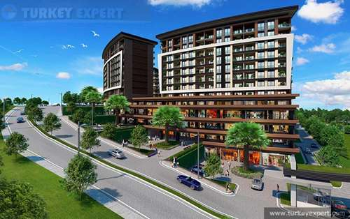 Apartment project in Istanbul Esenyurt, located next to a popular shopping mall