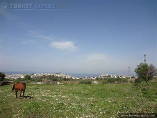 Sea view land for investment in Kusadasi