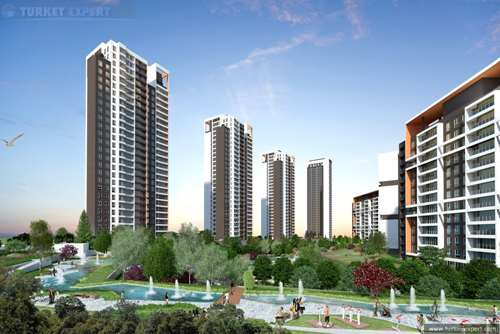 Lake view apartment project in Istanbul Bahcesehir, 36 months payment plan