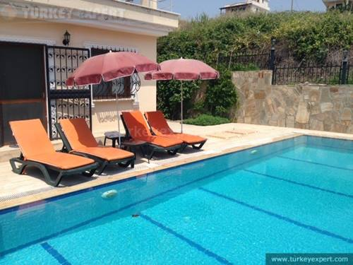 Independent large  sea view villa with private pool and garden, pet friendly
