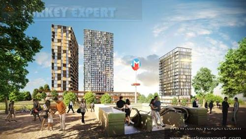 Istanbul apartment complex in Bagcilar 'Media Highway'