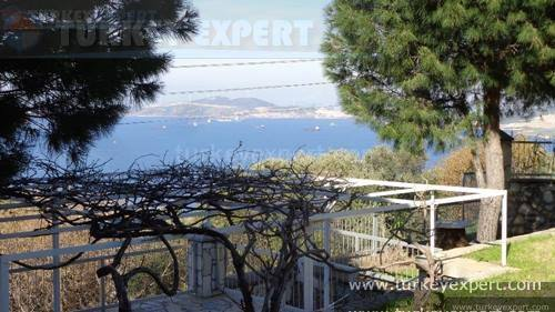 Detached sea view villa with private pool, garden and garage at Izmir Yenifoca