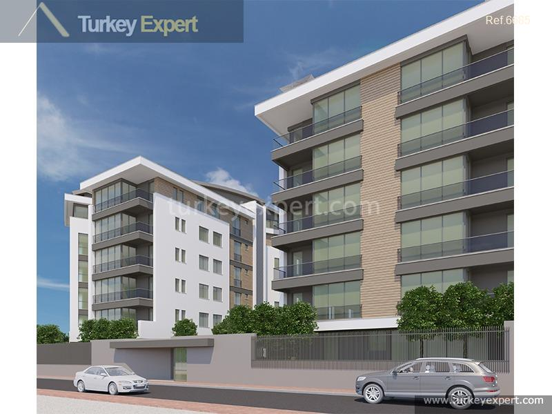 Apartment for sale in Antalya, on a site with a pool, high