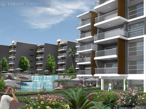 New development of apartments in Kusadasi center, with swimming pool and underground parking