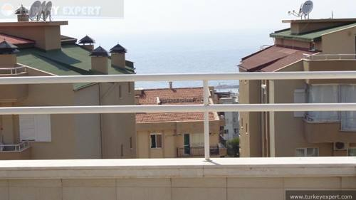 Kusadasi city center penthouse apartment with sea views