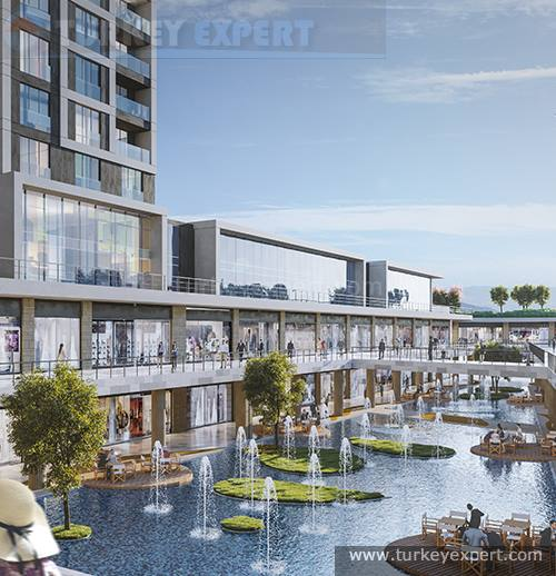 Stylish apartments with sea and lake view in Avenue Istanbul project