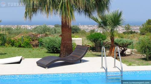 Beautiful private villa with panoramic sea views, pool, garden and car port