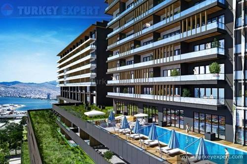 Luxury Konak apartments with sea views for sale in Izmir