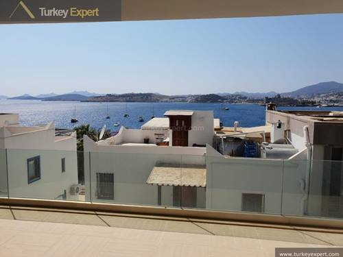 New build spacious duplex apartment for sale in Bodrum center with sea view