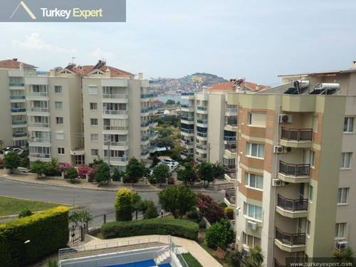 Spacious apartment with sea views for sale in Marina area, Kusadasi on the Ege Marin complex