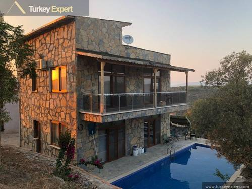 2 private houses for sale on a large plot of land near Bodrum airport