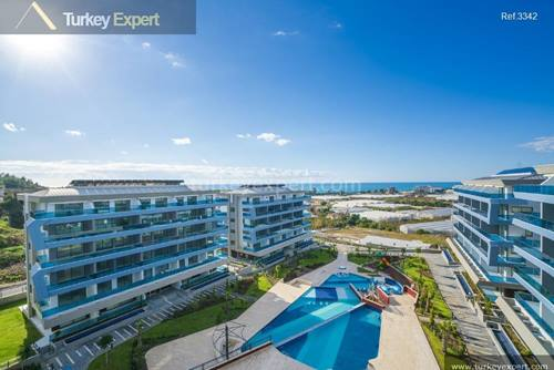 New project of luxury apartments with sea and city views for sale in Antalya, Alanya