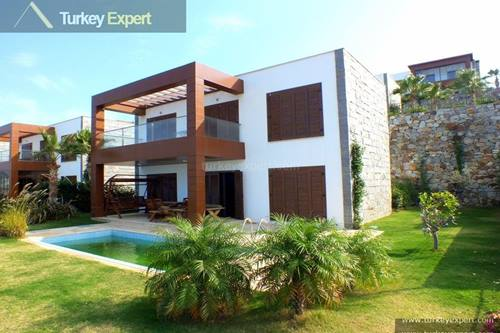 Villa for sale in Bodrum Gumusluk with private pool and amazing sea views
