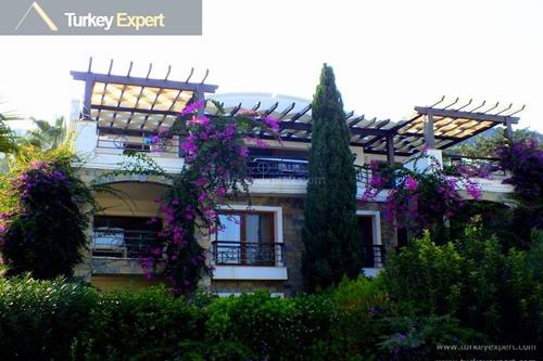 Luxury apartment with sea views for sale in Bodrum Turkbuku