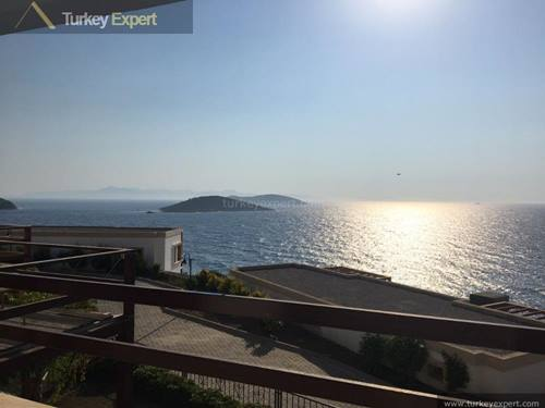 Attractive villa for sale in Yalikavak Bodrum on a sea-front complex with beautiful sea views