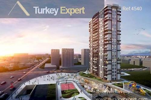 Ready to move in project with metro connection in Istanbul's future hub