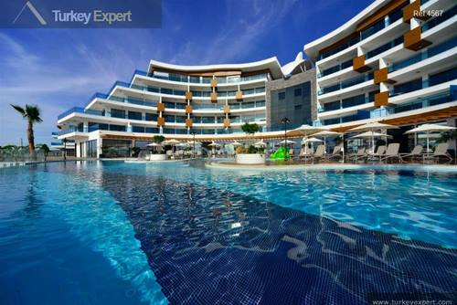 Luxury Alanya apartments for sale in a modern complex, open sea views