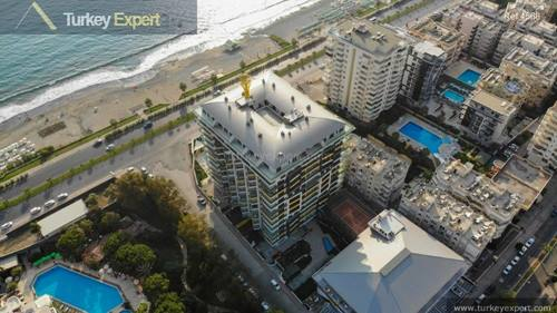 Beachfront apartments for sale in Alanya Mahmutlar with amazing sea views