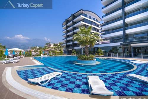 Luxury apartments on a complex with wonderful swimming pools and views