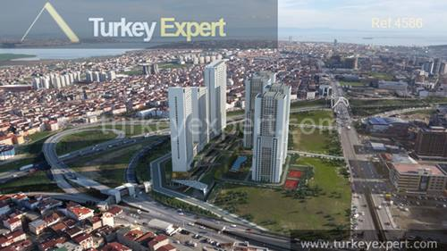 Great opportunity to own a 1-bedroom apartment on a modern complex with views over Istanbul