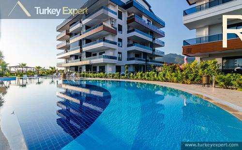 Apartments for sale near Alanya center,  on a complex with many facilities