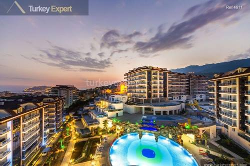 A variety of apartments in Oba Alanya offering lovely views over the Mediterranean sea