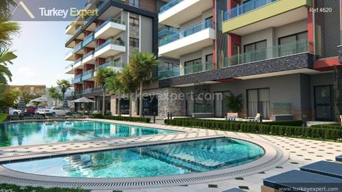 New apartment development only 300 meters from the beach in Kargicak district Alanya