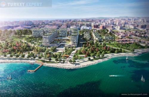 Sea-front apartments in Istanbul, high investment potential, lowest prices