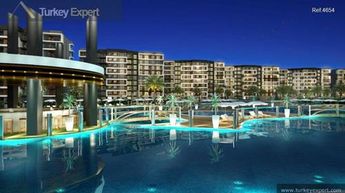 Apartments for sale on a sea view resort near the Kusadasi Golf Course, with plenty of facilities on a complex