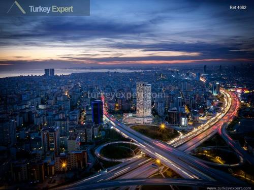High rental generating top notch luxury Istanbul apartments in a smart location