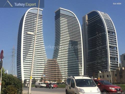 Bargain priced studio apartment for sale in Istanbul, on the 17th floor