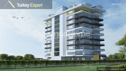 New apartment development in Alanya Mahmutlar close to beach and amenities