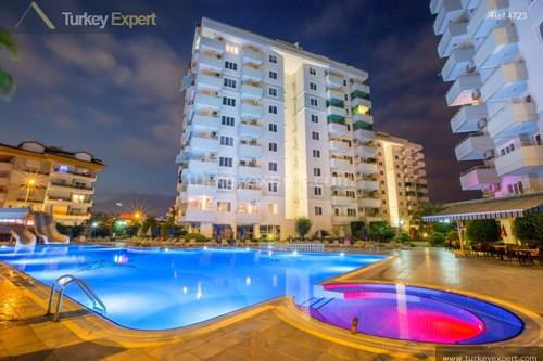 Alanya apartments for sale with panoramic views and many facilities on site