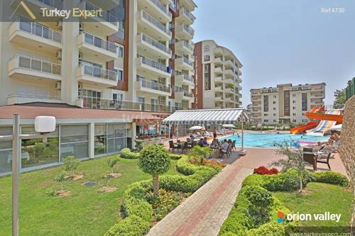 Alanya apartments on a nicely maintained holiday resort