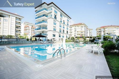 Spacious apartments for sale in Alanya, near the beach