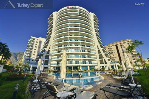 Alanya apartments for sale next to the sandy beach