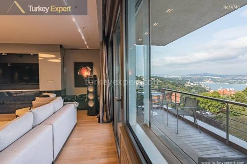 An elite apartment overlooking Bosphorus on the hills of Bebek, Istanbul