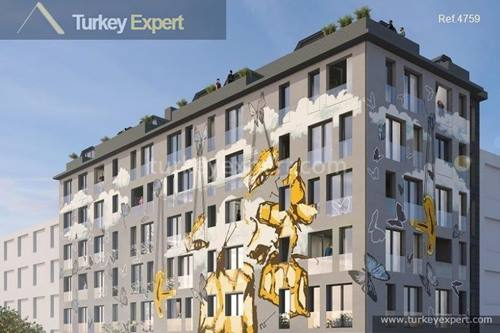 Stylish apartments for sale in Istanbul Bomonti, near Taksim