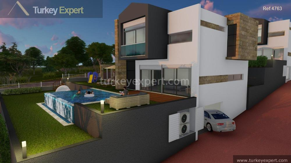 detached sea view villas with2
