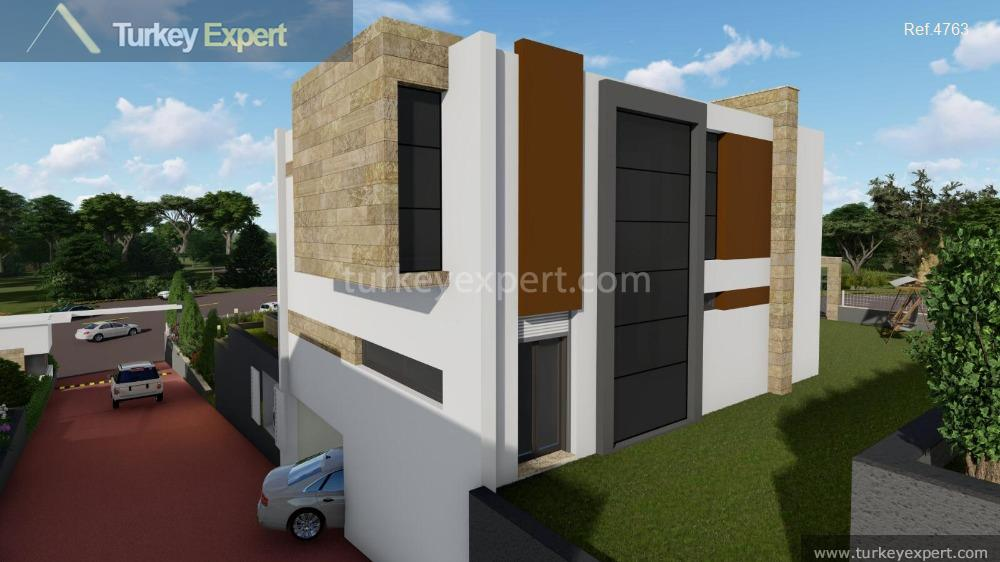 detached sea view villas with4