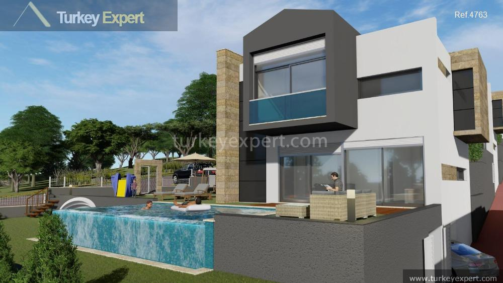 detached sea view villas with5